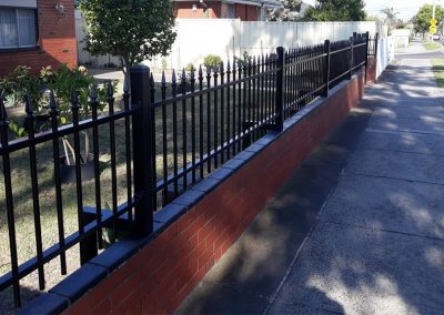 Brick and Steel Fencing Melbourne | Lockfast Fencing