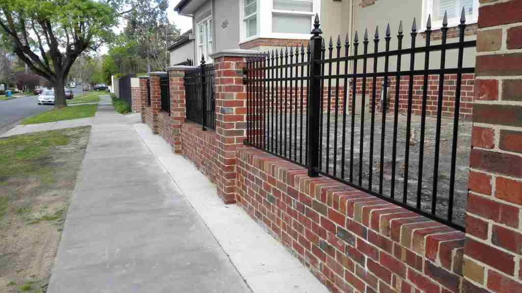 Front Steel or Brick Fencing & Gates