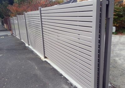Horizontal Slat Fencing Melbourne | Lockfast Fencing
