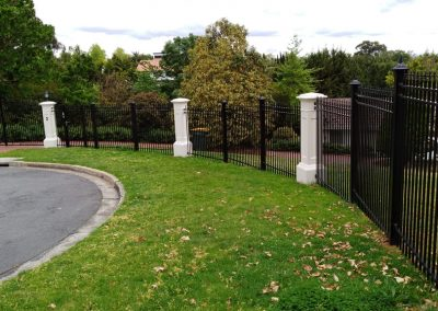 Spear Top Tubular Steel Fencing Melbourne | Lockfast Fencing