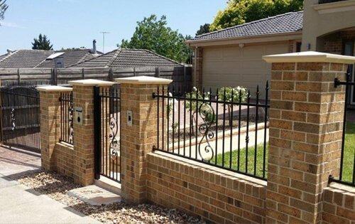 Brick & Steel Fencing Melbourne | Lockfast Fencing